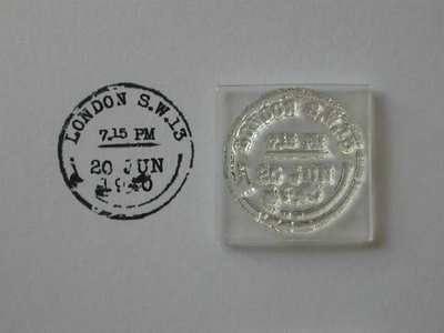 Vintage postmark stamp, London
