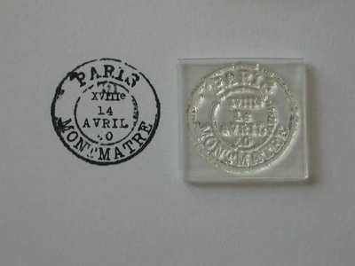 Vintage postmark stamp, Paris Montmartre
