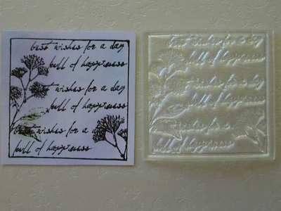 Floral & script framed stamp