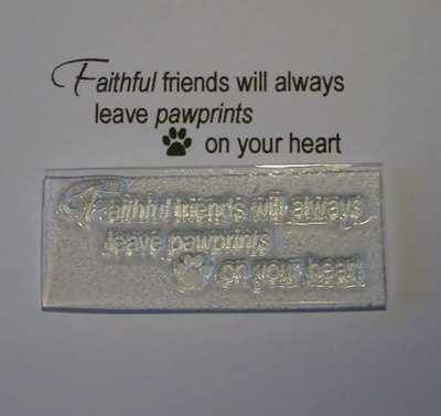 Pet Sympathy stamp, Faithful Friends