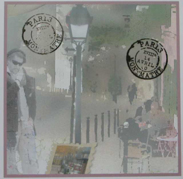 montmartre paper with postmark