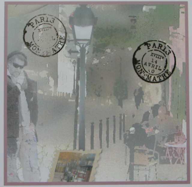 montmartre paper with postmark