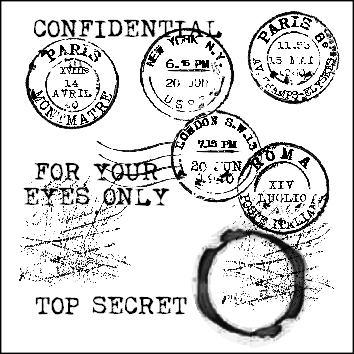 grunge vintage typewriter stamps