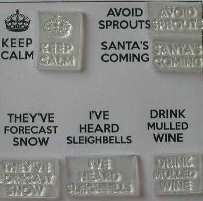 Keep Calm Christmas stamp set