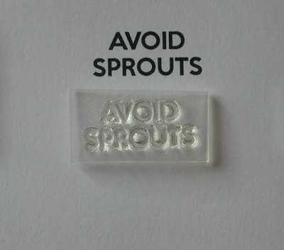 Avoid Sprouts stamp