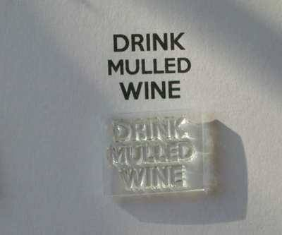 Drink Mulled Wine stamp