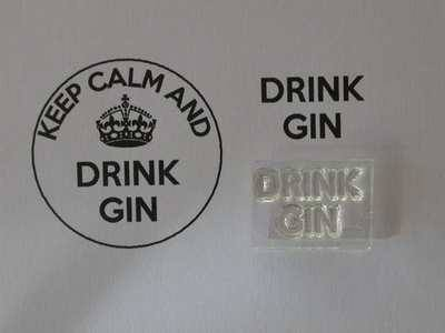 Drink Gin, for Keep Calm and, stamps