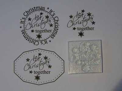 1st Christmas together little stamp