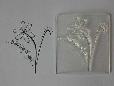 Flower stamp, Thinking of You