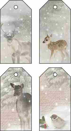 Xmas deer tags