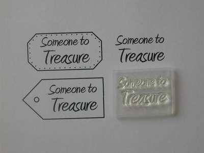 Someone to Treasure, clear stamp