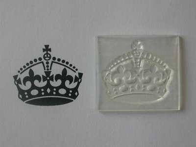 Keep Calm Crown Stamp