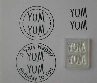 Yum Yum clear stamp