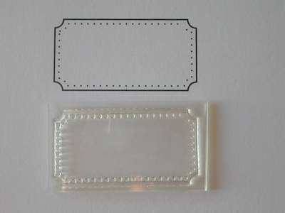 ticket stamp to fit tim holtz die blank frame