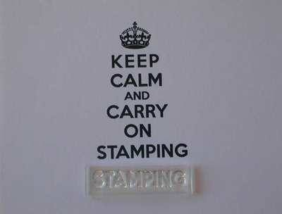Stamping stamp for Keep Calm