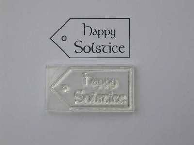 Tag stamp, Happy Solstice