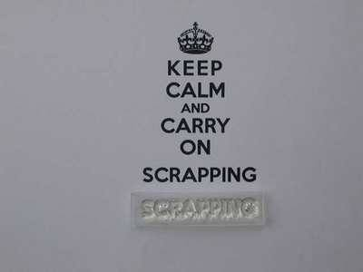 Scrapping stamp for Keep Calm