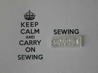 Sewing stamp for Keep Calm and Carry on