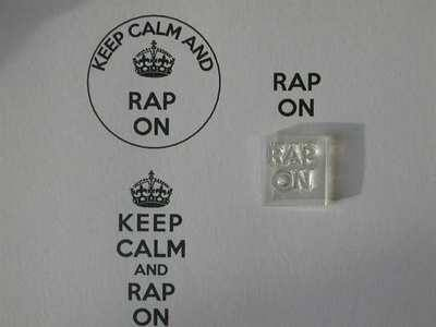 Rap On, for Keep Calm stamp