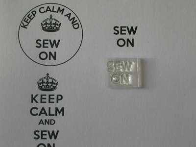 Sew On, for Keep Calm stamp