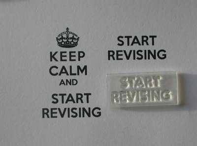 Start Revising, for Keep Calm and... stamp