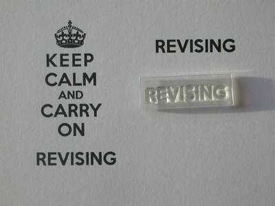 Revising stamp for Keep Calm and Carry on