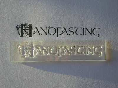 Handfasting, decorative text stamp