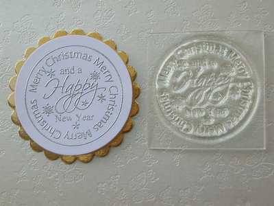 Circle stamp, Merry Christmas & Happy New Year