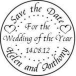 Save the date, Wedding of the Year, circle stamp