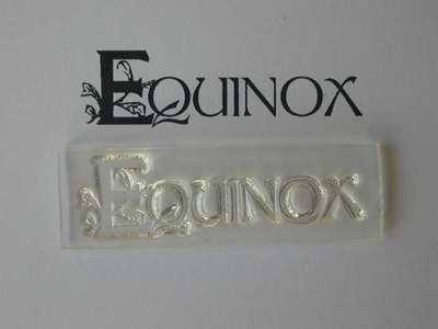 Equinox, decorative text stamp