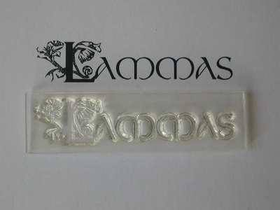 Lammas, decorative text stamp