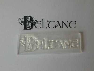 Beltane, decorative text stamp
