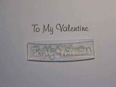 To My Valentine stamp