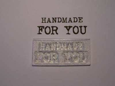 Handmade for you stamp, typewriter font