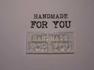 Handmade for you stamp, typewriter font