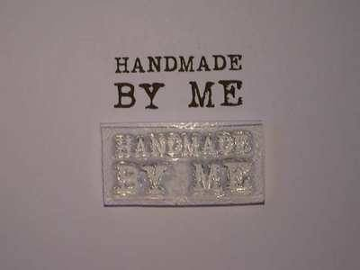Handmade by me stamp, typewriter font