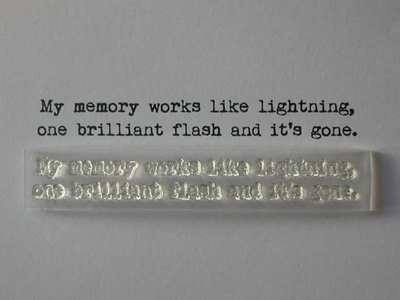 Memory like lightning verse, typewriter font