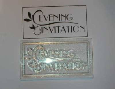 Evening Invitation, Deco style framed stamp