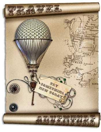 Steampunk travel topper