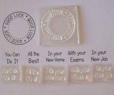 Good Luck, circle stamp set