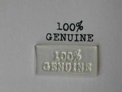 100% Genuine, clear stamp