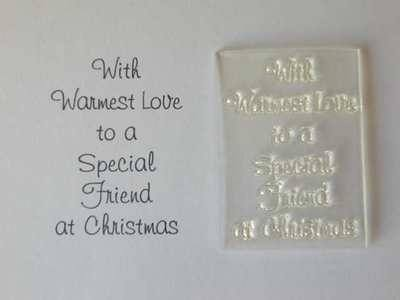 Special Friend Christmas verse stamp