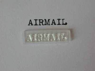 Airmail stamp, typewriter font