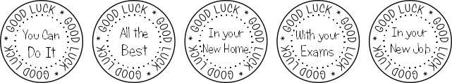 Good luck stamp set