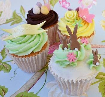 littlepapercakes Easter cupcakes