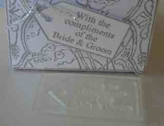 Wedding Favour Tag, Compliments of Bride & Groom