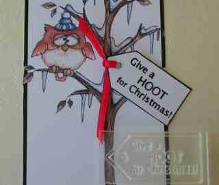 Tag, Give a  HOOT for Christmas!