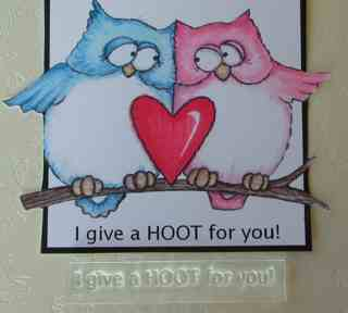 I give a HOOT for you! owl stamp
