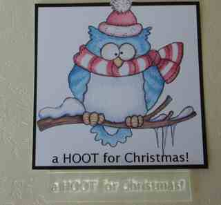 A HOOT for Christmas! stamp