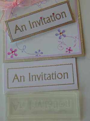 An Invitation, framed text stamp